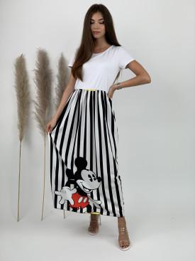 Šaty dlhé pásikavé šťastný myšiak 2198
