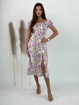 Šaty dlhé s kvetmi 3937