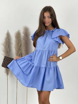 Šaty jednofarebné ku krku 9878