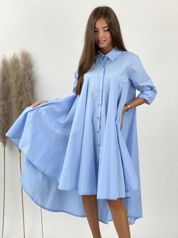 Šaty košeľové predĺžený zad 85032