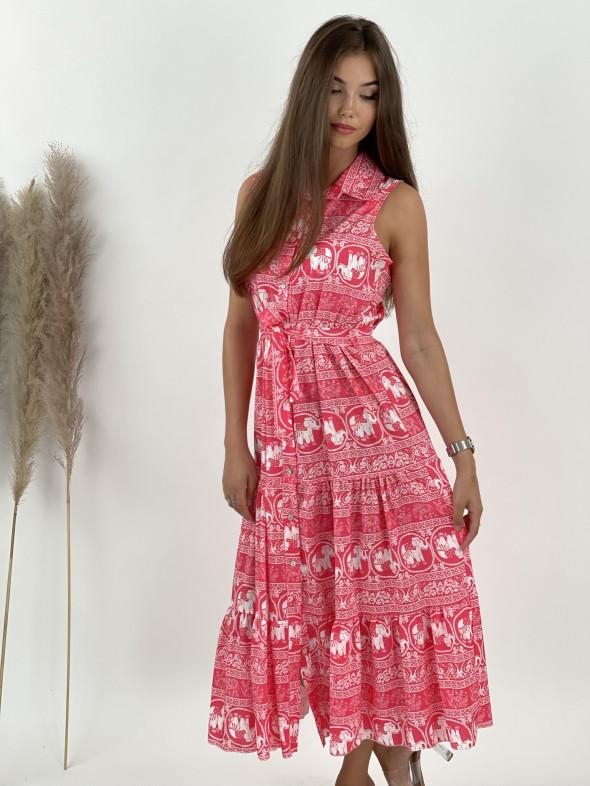 Šaty na gombíky midi sloník 53291