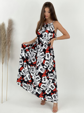 Šaty na ramienka myšiaci veľké vzory 3871