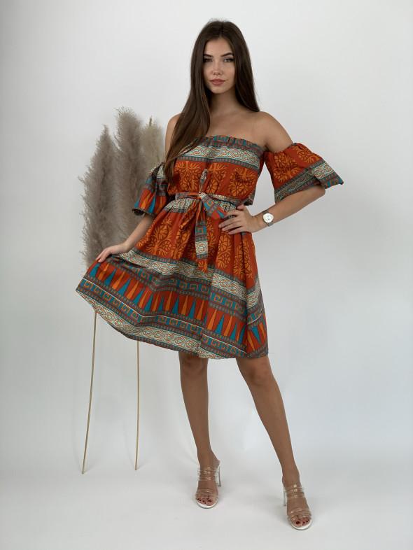 Šaty nad kolená ornamenty 2003
