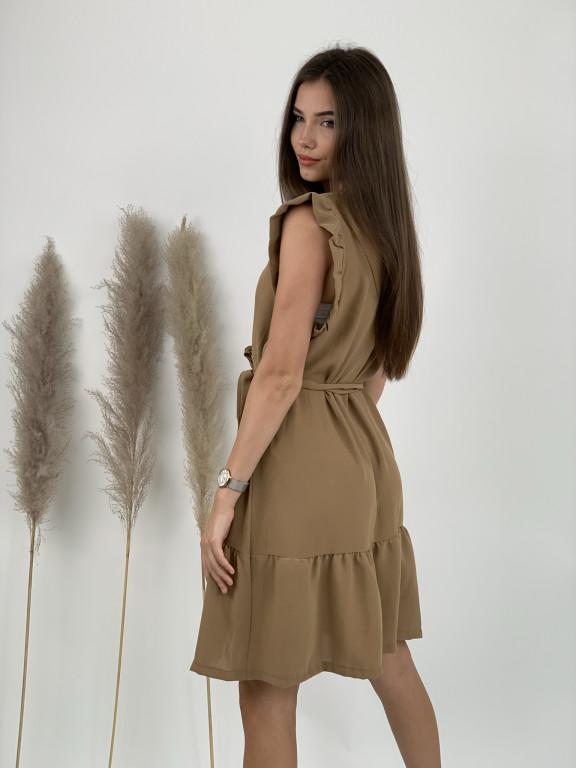Šaty nad kolená s volánom 3879