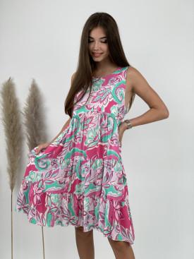 Šaty pod kolená kvetové vzory 18608