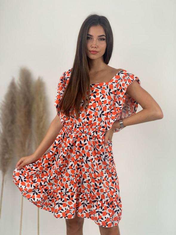 Šaty pod kolená ružičky 573