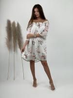 Šaty nad kolená s kvietkami 2335