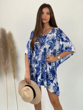 Šaty stiahnuté v páse hawaii