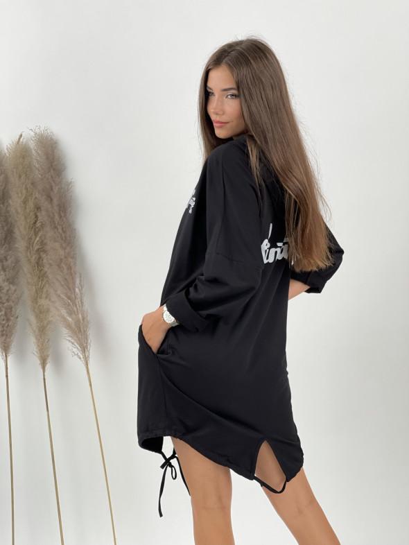 Šaty teplákové na zips VINTAGE