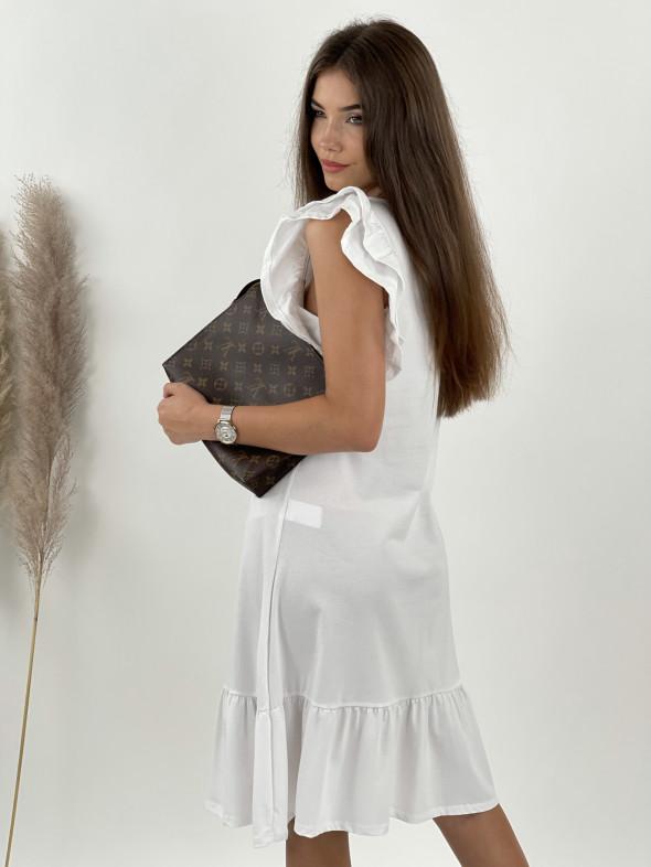 Šaty teplákové volánikový rukáv 72103