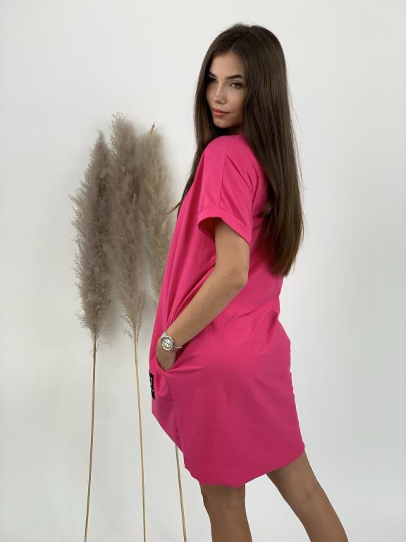 Šaty teplákové voľne nášivka