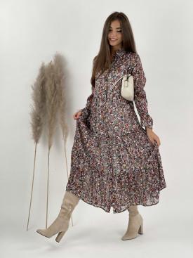 Šaty dlhé s kvetmi Flora