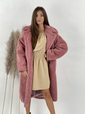 Kabát dlhý TEDDY 8279 staroružová