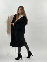Kabát Teddy s kapucňou čierny 8366