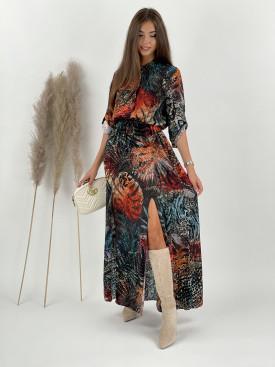 Šaty dlhé s viazaním Natalie 11051