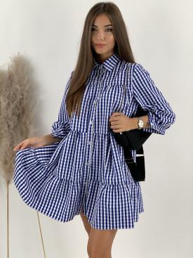 Šaty košeľové kockované Cubes 7058