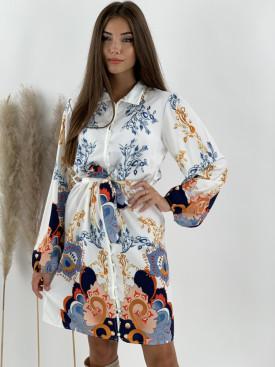 Šaty na gombíky s viazaním Bloom 1576