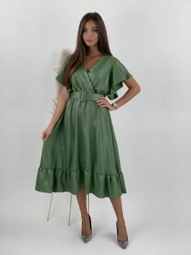 Šaty pod kolená lesklé Glossy 21533
