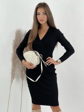 Šaty rebrované s opaskom ENZORIA 9231