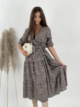 Šaty s leopardím vzorom Vaiana 9955