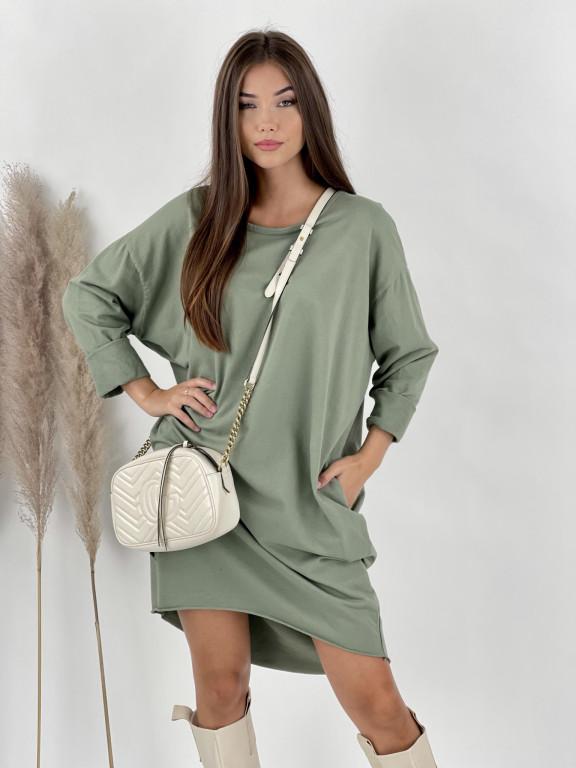 Šaty teplákové dlhý rukáv WINGS 65273