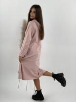 Šaty teplákové s kapucňou SASA 15027