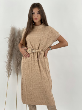 Šaty úpletové mriežka MOEWY 9584