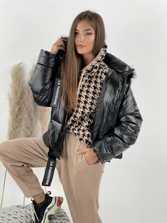 Bunda s kapucňou La Parisienne 8297