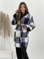Kabát karovaný s opaskom 2030