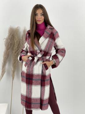 Kabát károvaný s opaskom ROXY 7897