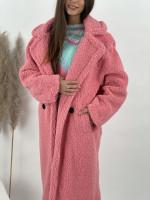 Kabát pod kolená Teddy 8639 Bledoružový