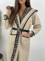 Kabát tenký s opaskom AZTEC 15128