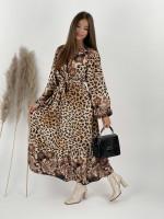 Šaty dlhé leopardie ELLA 3901