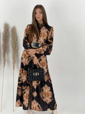 Šaty dlhé na gombíky Zariyah 4274