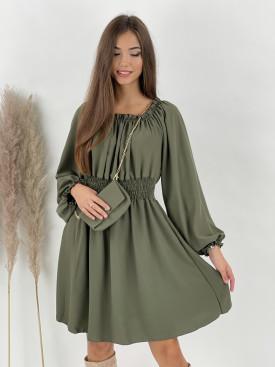 Šaty jednofarebné s kabelkou VICTORIA 30926