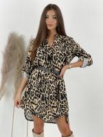 Šaty nad kolená s opaskom Felidae 8683