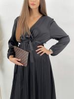 Šaty plisované s opaskom Alisson 24358