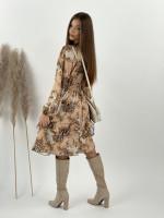 Šaty po kolená s gumičkou v páse Royal Youth 10594