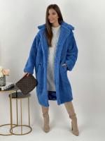 Kabát dlhý TEDDY 8279 modrá