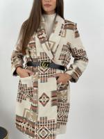 Kabát prechodný s opaskom Ananya 6078