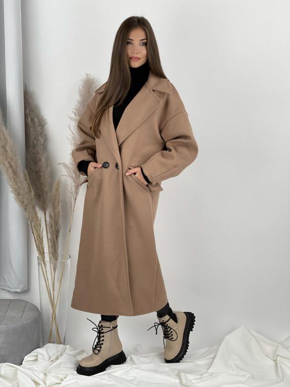 Kabát dlhý na gombík Vesper 7909