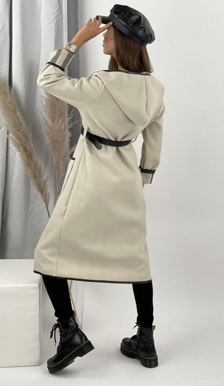 Kabát tenký s opaskom CARA 5721
