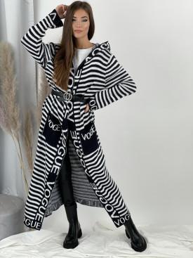Kardigan dlhý Striped Vogue 8225