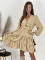 Šaty jednofarebné volánové FATIMA