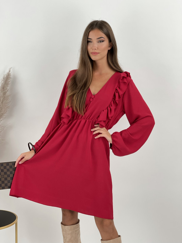 Šaty nad kolená s volánom Naya 21037