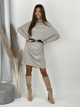 Šaty rebrované s opaskom ELIZA 17201