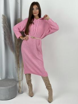 Šaty svetrové s kapucňou Sante 9885