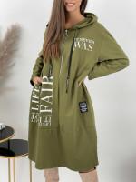 Šaty teplákové na zips FAIR 33155