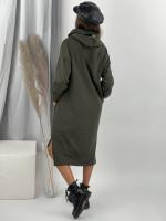 Šaty teplákové s kapucňou POCKET 4067