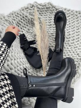 Topánky QT16 Amber čierne